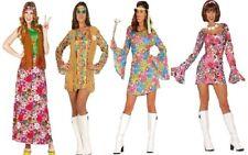 Womens 60s 70s Retro GoGo Girl Hippy Groovy Hippie Fancy Dress Costume