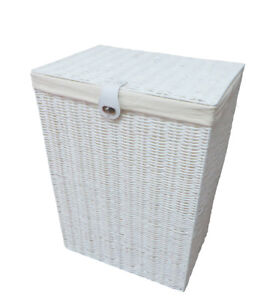 Laundry Basket Large White Resin Box With lid-Lock White By Arpan