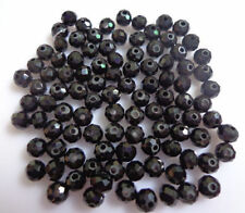 100pcs Black Fashion Exquisite Rondelles Crystal Beads Jewelry Making 3*4mm