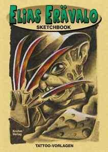 Elias Erävalo Sketchbook Comic Style Tattoo Vorlagen Buch Vorlagenbuch