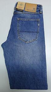NEW Ben Sherman HAMPSTEAD Tapered Vintage Blue Denim Men's Jeans W-30 L-34