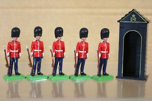 Britains Yeux Droit Re Fini 5 X Scots Guards Sur Garde Royale Service Nq