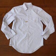 Calvin Klein Men's White Non-Iron Slim Fit Long Sleeve Button-Front Dress Shirt