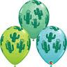 "Cactus Assorted Colour 11"" Latex Balloons 6pk Desert Carribean Decoration Party"