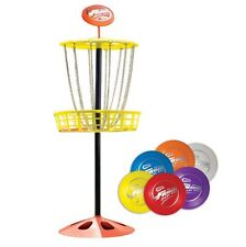 Wham O Youth Indoor/Outdoor Portable Mini Frisbee Golf Toy Set Target w/ 6 Discs
