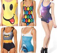 New Monokini Sexy Women Printed One-Piece Bikini Swimsuit Beachwear Swimwear