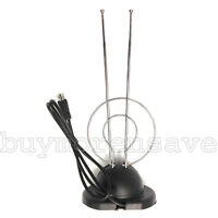Trisonic Rabbit Ear Digital Ready TV Antenna HDTV VHF UHF with Coax Cable