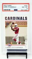 2004 Topps HOF Cardinal Star LARRY FITZGERALD Rookie Football Card PSA 8 NM-MT