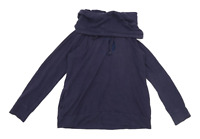Preworn Womens Size L Cotton Cowl Neck Blue Jumper (Regular)