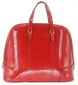 Red Large Patent Leather Gucci Guccissima