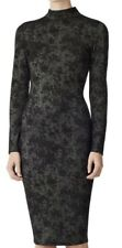 Designer REISS Rubic bodycon dress size XS below knee high cowl long sleeve