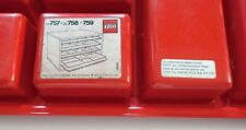 tiroir rangement Lego boîte retro vintage 1984 rouge ref 759 box LEGO Denmark