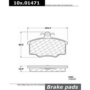 Centric 101.01471 Disc Brake Pad-Front Brake Pad