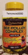 Bee Pollen Complex *1000mg* 100 Caplets Bee Pollen Bee Propolis Royal Jelly