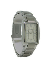Fossil PR5421 Women's Analog Rectangular Roman Numeral Stainless Steel Watch