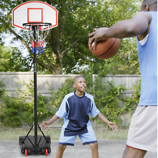 Adjustable Portable Basketball Hoop System Stand Kid Indoor Outdoor