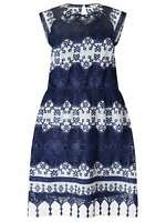 Studio 8 Ellis Dress, Navy RRP £150.00 UK SIZE 16  (CH2)