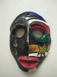 Vintage ceramic mask face mask costume dressing up mask Art wall plaque mask