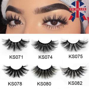 7 Pairs Long Wispy Fluffy Hair 3D Mink False Eyelashes 25mm Lash Lash Extension