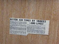 q2-1 ephemera 1950s article taronga zoo george cann