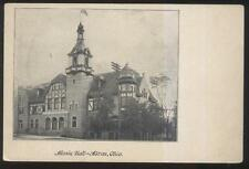 Postcard Akron Oh/Ohio Music Hall With Observation-Bell? Tower 1906?