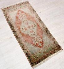 """Malatya Carpet Doormat, 19.7""""x38.2"""", Turkish Doormat, Handmade Vintage Doormat"""