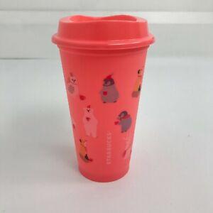 Starbucks Christmas 2019 Reusable Hot Coffee Cup Tumbler Travel Grande 473ml New