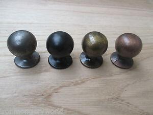 (CODE 13) ROUND BALL CAST IRON CUPBOARD CABINET DRAWER KITCHEN DOOR KNOBS