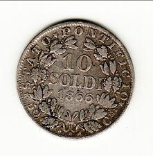 VATICAN 10 SOLDI 1866  ROME