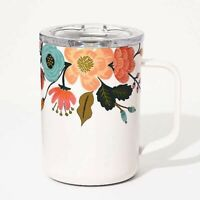 Mug, thermos - White Lively Floral ,16 oz. (473 ml) NEW By Corkcicle