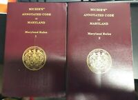 Michie's Annotated Code of The Public General Laws Maryland Rules Volume 1 & 2