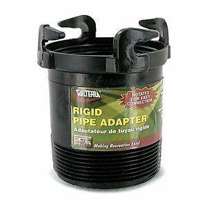 """Valterra Black T1027 Rotating Rigid Sewer Pipe Adapter-3"""", Bayonet"""