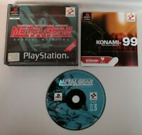 VIDEO GAME - Metal Gear Solid Special Missions PlayStation 1 PS1 *No Manual* PAL
