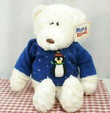 GUND Ice Cap plush Polar Bear HUGS & KISSES 1078 Penguin sweater w/ Tag (P15)