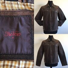 Men's brown leather jacket Small Lined made by The Vero bomber style jacket