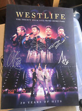 WESTLIFE SIGNED A3 ART PRINT POSTER THE TWENTY TOUR CROKE PARK AUTOGRAPH