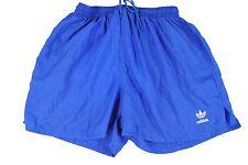 MENS L vtg 90s Adidas Trefoil Running Shorts LINED Blue Track Jogging Short