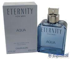 ETERNITY AQUA by Calvin Klein for Men Cologne 6.7/6.8 oz/200 ml edt New in Box