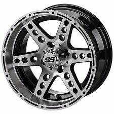 Set of 4 - 205/30-14 Tire on a 14x7 Machined/Blk Chaos Wheel W/Free Freight