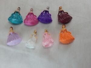 "Dollhouse Miniature 1/4"" Scale Plastic Figurine Group 8 PCS Set 1"" Tall  #Z217 B"