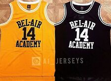 The Fresh Prince Of Bel Air Academy Jersey Will Smith Black Yellow Mens S M L XL