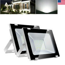 Garden Yard 2pcs 100W Cool White LED Flood Light Lamp Outdoor Lighting Spotlight