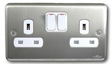 Satin Chrome Plug Socket Home Electrical Fittings