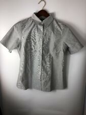 THE OUTFITTERS by Lands End Button Down Shirt Size M Women's short sleeved
