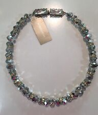 "NORDSTROM Stunning Faceted Crystal 18"" Collar Necklace-WOW!-RV $68-NWT-60% OFF!"