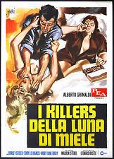 el cartel DE la película ASESINOS LUNA MIEL stoler, lo blanco, higby, KASTLE