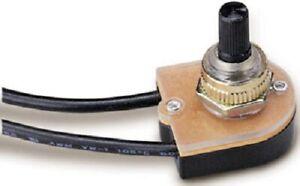 ECM, 6 Pack, Bright Brass Rotary Switch, Single Pole Single Throw