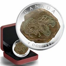2009 $4 Dinosaur Collection -Tyrannosaurus Rex (3rd coin in series)