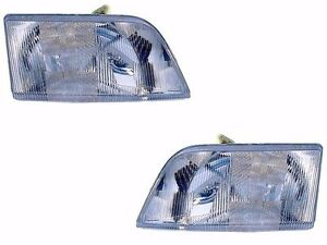 BLUE BIRD VISION 2011 2012 2013 2014 HEADLIGHTS HEAD LAMPS FRONT LIGHTS - PAIR