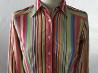 Tommy Hilfiger Stripe Button Down Shirt Womens Long Sleeve Size Small / Petite